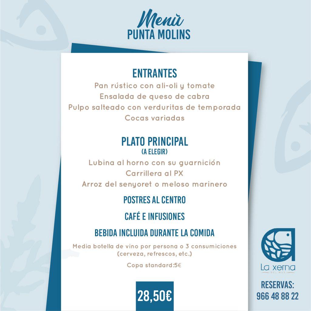 Menú Punta Molins
