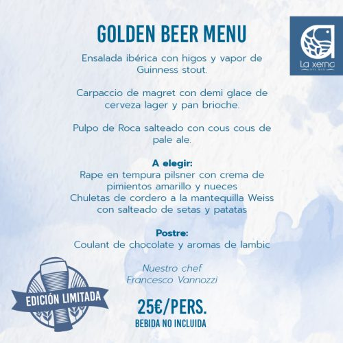 golden beer menu menú